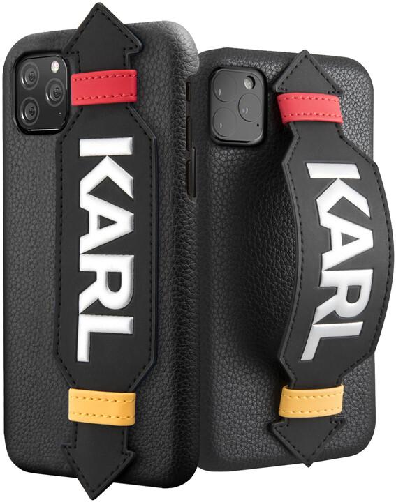 KARL LAGERFELD Strap kryt pro iPhone 11 Pro Max, černá