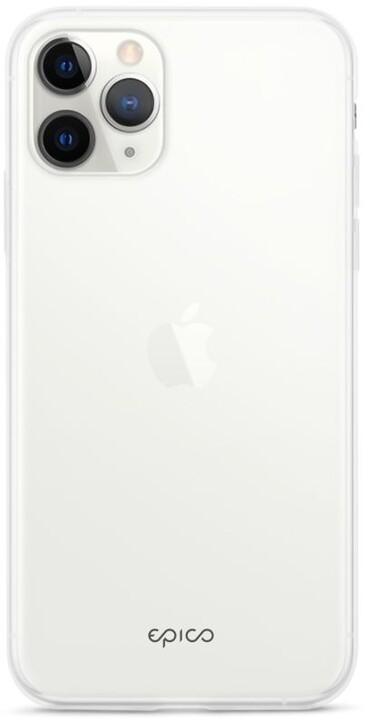EPICO silikonový kryt pro iPhone 12/12 Pro, bílá transparentní