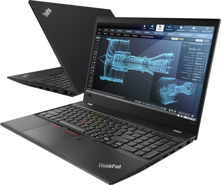 Lenovo ThinkPad P52s, černá