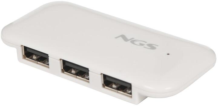 NGS IHUB4 4x port USB 2.0, bílá