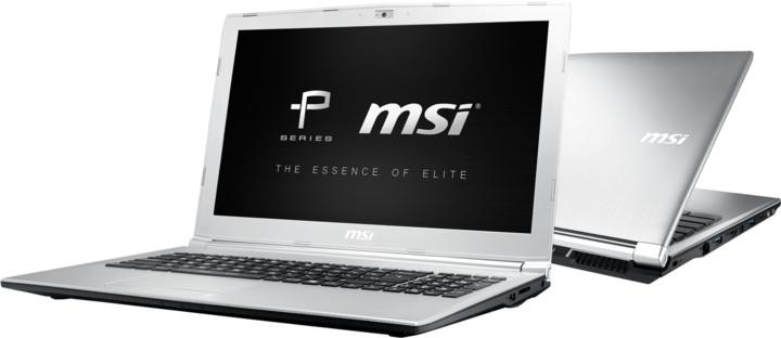 MSI PL62 7RC-055CZ, stříbrná