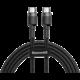 Baseus odolný kabel Series Type-C PD2.0 60W Flash Charge kabel (20V 3A) 1M, šedo/černá