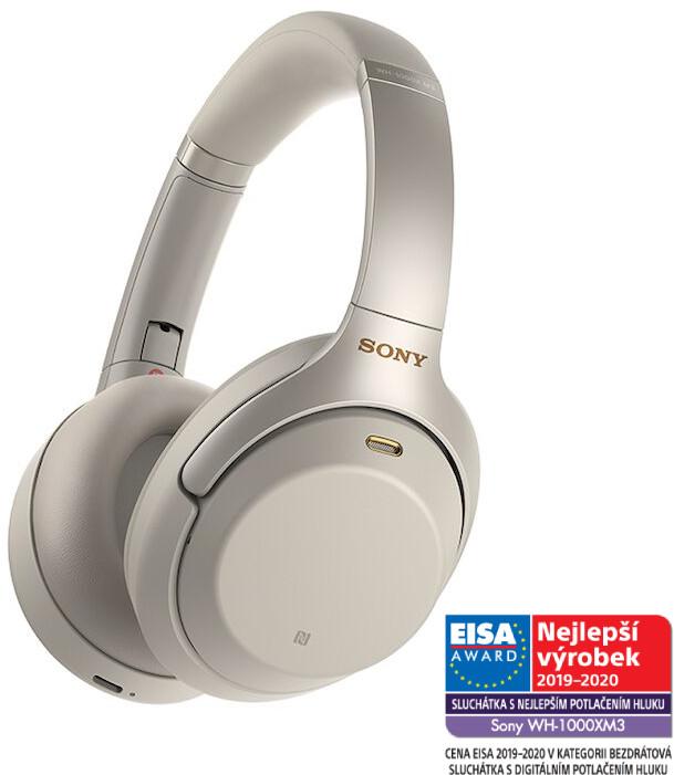 Sony WH-1000XM3, stříbrná