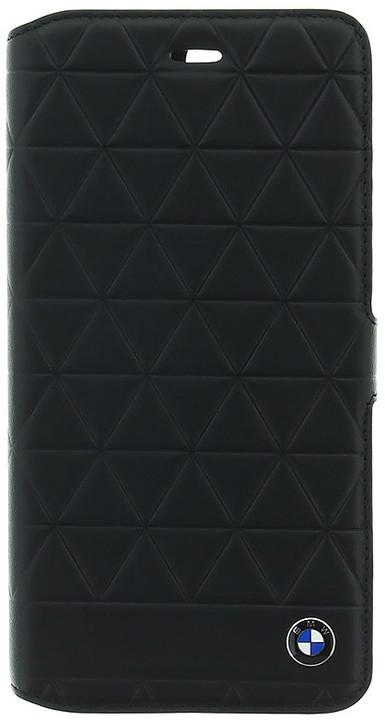 BMW Hexagon kožené pouzdro typu kniha pro iPhone 7/8 Plus, černé