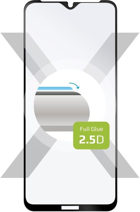 FIXED ochranné tvrzené sklo pro Nokia 2.4, Full-Cover, 2.5D, černá
