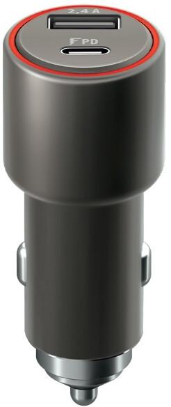 Forever CORE autonabíječka USB a USB-C PD, 30W, černá