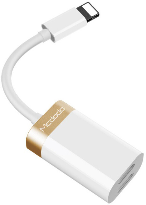 Mcdodo Lightning To Dual Lightning Adapter (5V, 1A) White