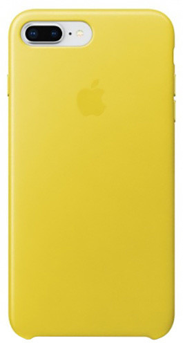 Apple kožený kryt na iPhone 8 Plus / 7 Plus, jasně žlutá