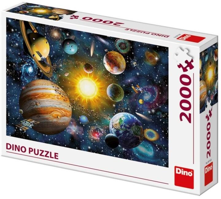 Puzzle Dino Sluneční soustava, 2000 dílků