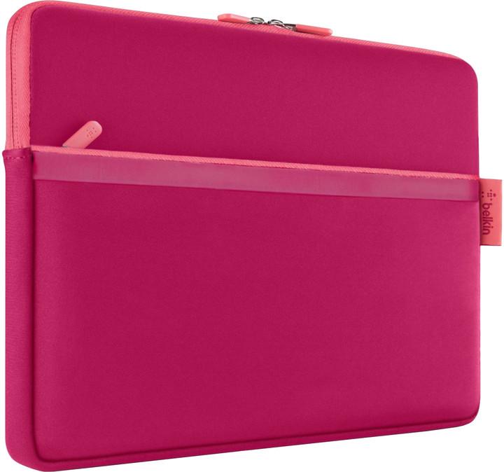 """Belkin Sleeve pouzdro pro Microsoft Surface s kapsou, 12"""", červeno-růžová"""