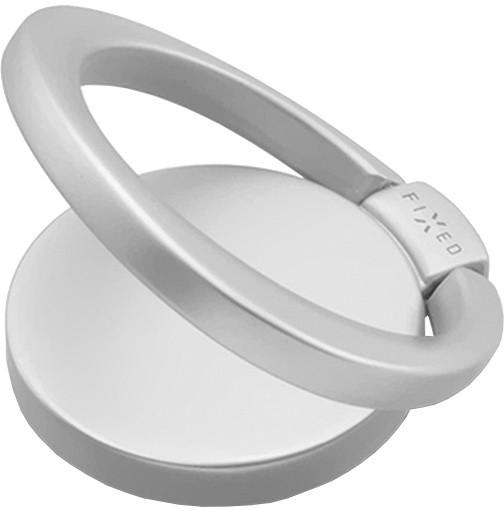FIXED prstýnek pro mobilní telefony Loop se stojánkem, stříbrná