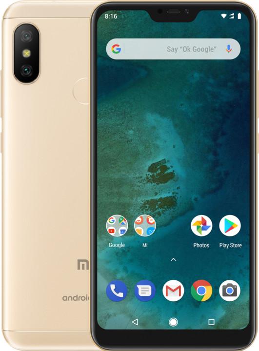 Xiaomi Mi A2 Lite - 32GB, zlatá