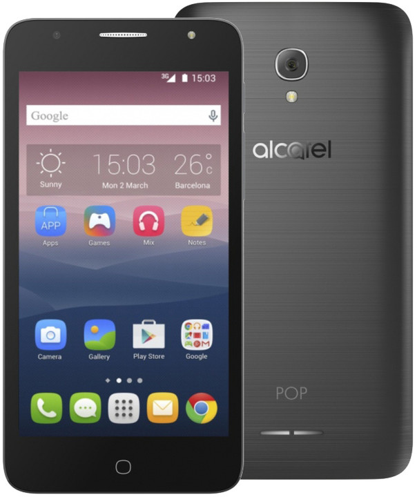 ALCATEL ONETOUCH POP 4+ 5056D, šedá