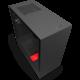 NZXT H510, okno, černočervená