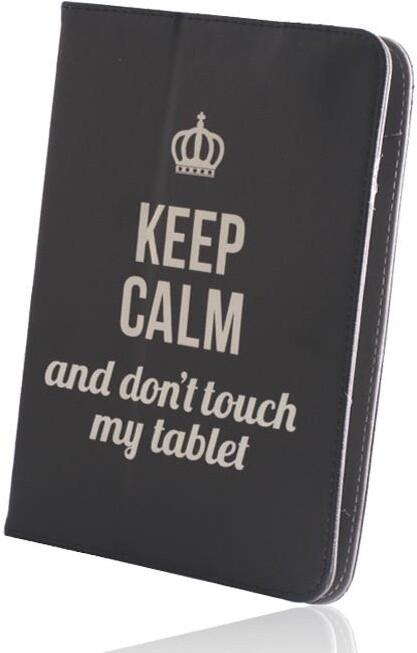 """GreenGo flipové pouzdro Keep Calm pro tablet 7-8"""", univerzální, černá"""