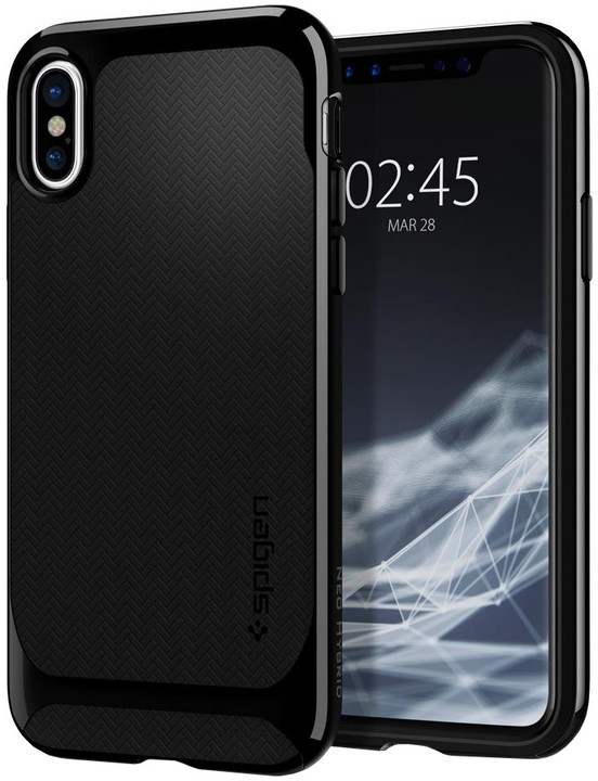 Spigen Neo Hybrid iPhone X, shiny black