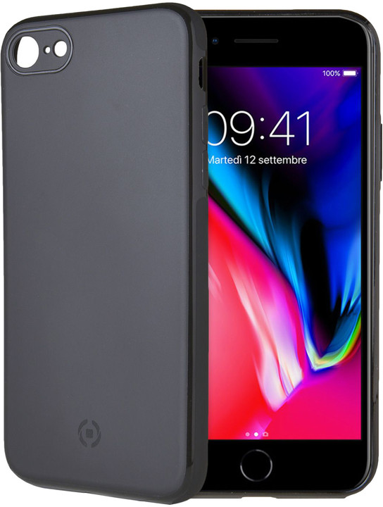 CELLY GHOSTSKIN magnetický TPU kryt pro Apple iPhone 7/8 Plus, kompatibilní s GHOST držáky, černý