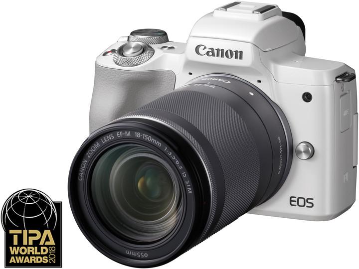 Canon EOS M50, bílá + EF-M 18-150mm IS STM