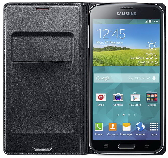 Samsung flipové pouzdro s kapsou EF-WG900B pro Galaxy S5, černá