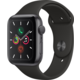 Apple Watch Series 5 GPS, 44mm Space Grey Aluminium Case with Black Sport Band - S/M & M/L  + Kuki TV na 2 měsíce zdarma