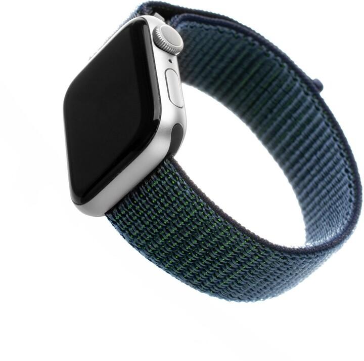 FIXED nylonový řemínek pro Apple Watch, 42/44mm, tmavě modrá