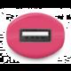 CONNECT IT InCarz COLORZ auto adaptér 1xUSB 2,1A, růžová (V2)