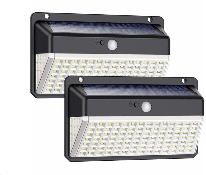 Viking venkovní světlo D118, LED, solární, s pohybovým senzorem, černá