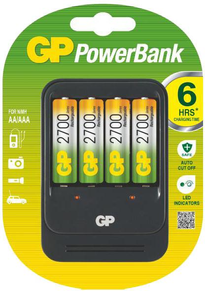 GP PB570 nabíječka + 4x AA Recyko+ 2700, 7hod