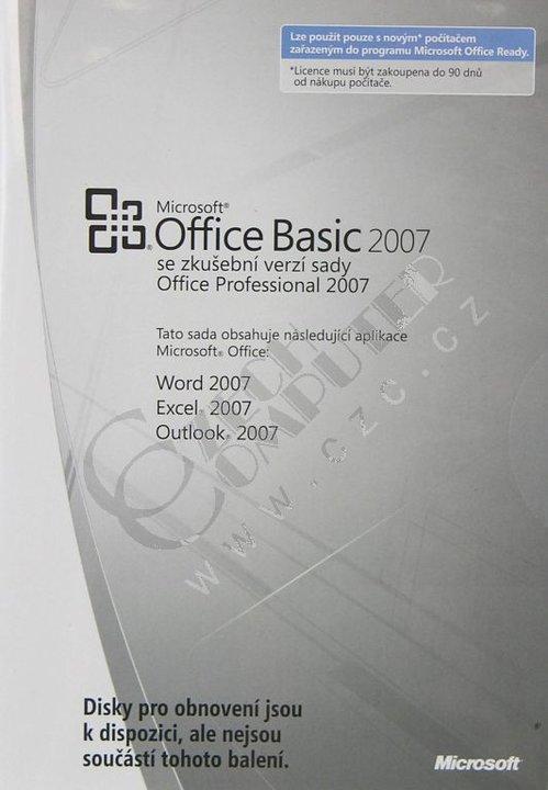 Microsoft Office Basic 2007 CZ OEM