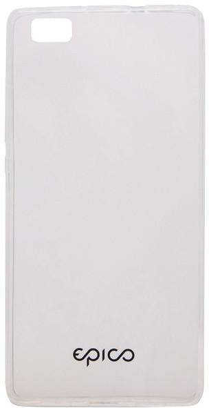 EPICO pružný plastový kryt pro Huawei P8 Lite RONNY GLOSS - bílý transparentní