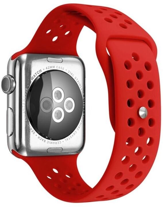 MAX silikonový řemínek MAS38 pro Apple Watch, 38/40mm, červená