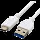C-TECH kabel USB 3.0 AM na Type-C kabel (AM/CM), 2m, bílá