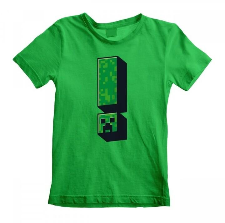 Tričko Minecraft: Creeper Exclamation, dětské, (5-6 let)
