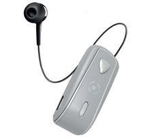 CELLY SNAIL, bluetooth headset s klipem a navijákem kabelu, stříbrná - BHSNAILSV