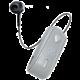 CELLY SNAIL, bluetooth headset s klipem a navijákem kabelu, stříbrná