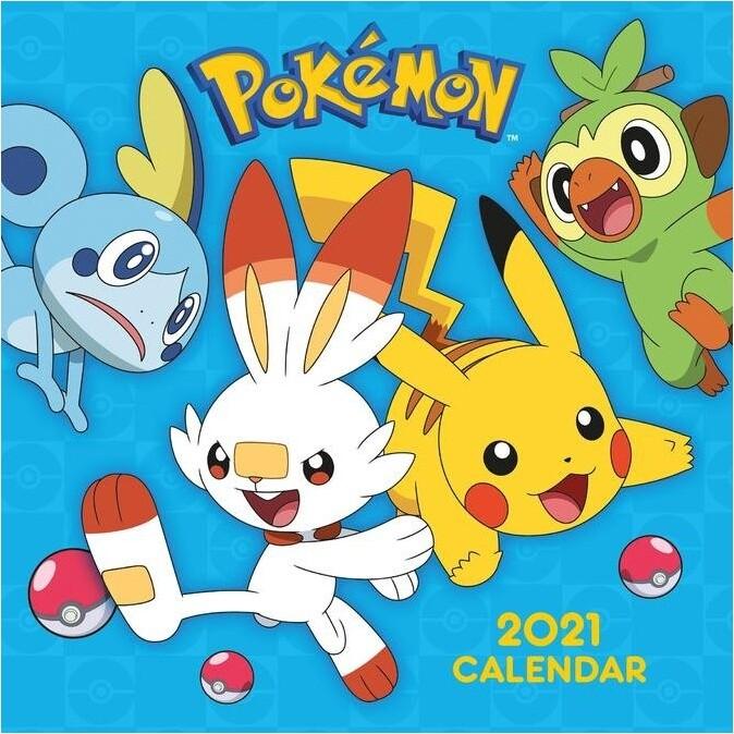 Kalendář 2021 - Pokémon
