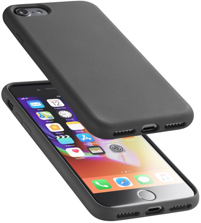 CellularLine ochranný silikonový kryt SENSATION pro iPhone 8/7, černý