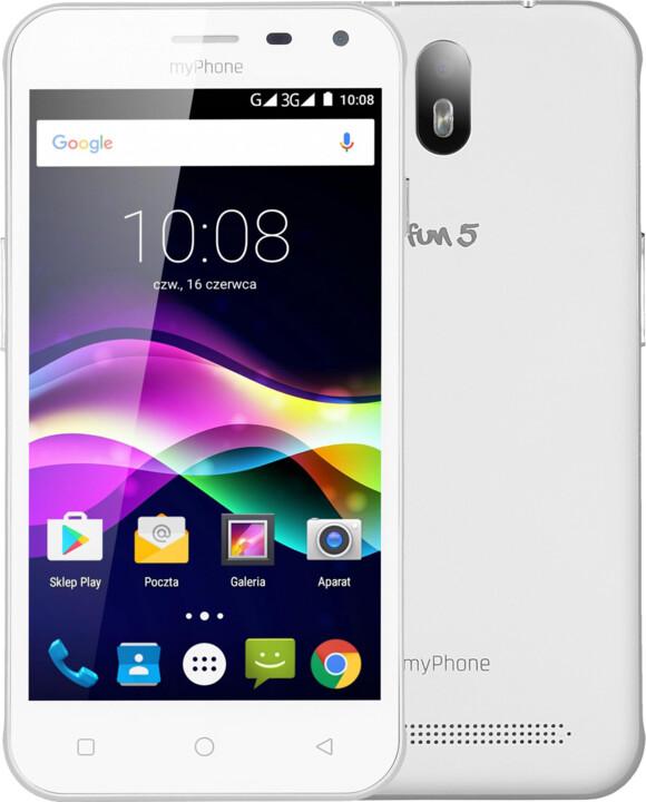 myPhone FUN 5, bílá
