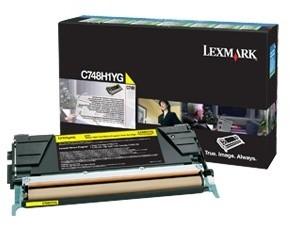 Lexmark C748H1YG, žlutá, return