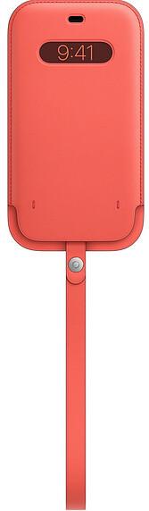 Apple kožený návlek s MagSafe pro iPhone 12 Pro Max, růžová