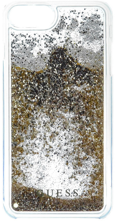 Guess Liquid Glitter Hard Gold pouzdro pro iPhone 7 Plus