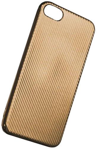 Forever silikonové (TPU) pouzdro pro Apple iPhone 7, carbon/zlatá