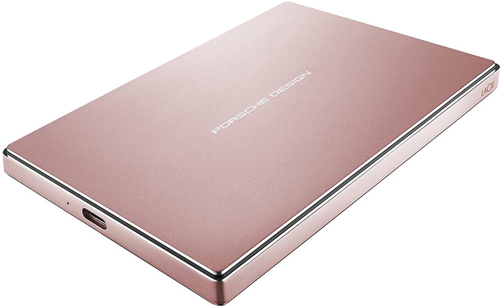LaCie Porsche Design Mobile - 2TB, růžová
