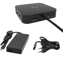 i-tec USB-C Dual Display Docking Station with Power Delivery 65W + Universal Charger 77 W - C31DUALDPDOCKPD65W