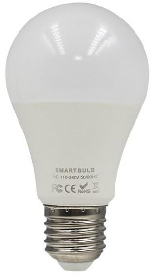 iQtech SmartLife chytrá žárovka, E27, LED, 9W, Wi-Fi, bílá