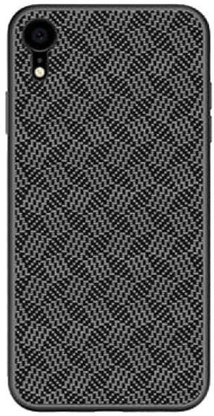 Nillkin Synthetic Fiber ochranný zadní kryt Plaid pro iPhone XR, černá
