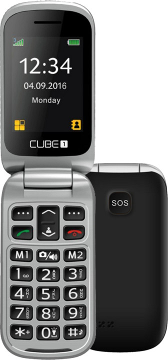 Cube 1 VF300, černo/stříbrná