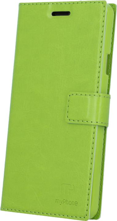 myPhone pouzdro s flipem pro PRIME PLUS, zelená