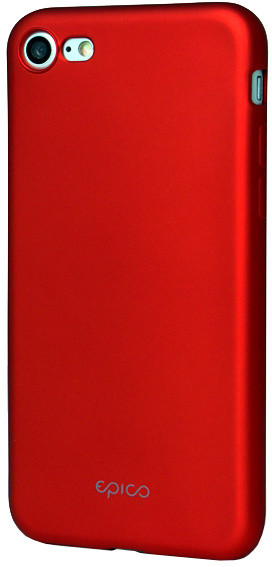 EPICO pružný plastový kryt pro iPhone 7 EPICO GLAMY - červený