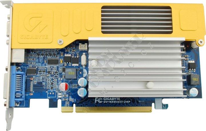 GIGABYTE 8400 GS (GV-NX84S512HP) 512MB, PCI-E